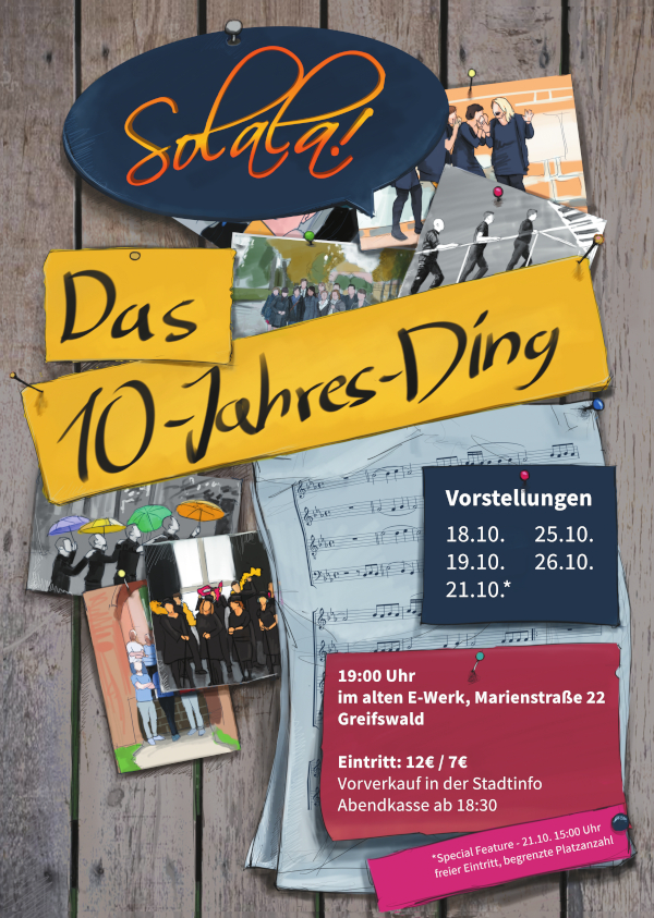 Plakat Solala! 10-Jahres-Ding